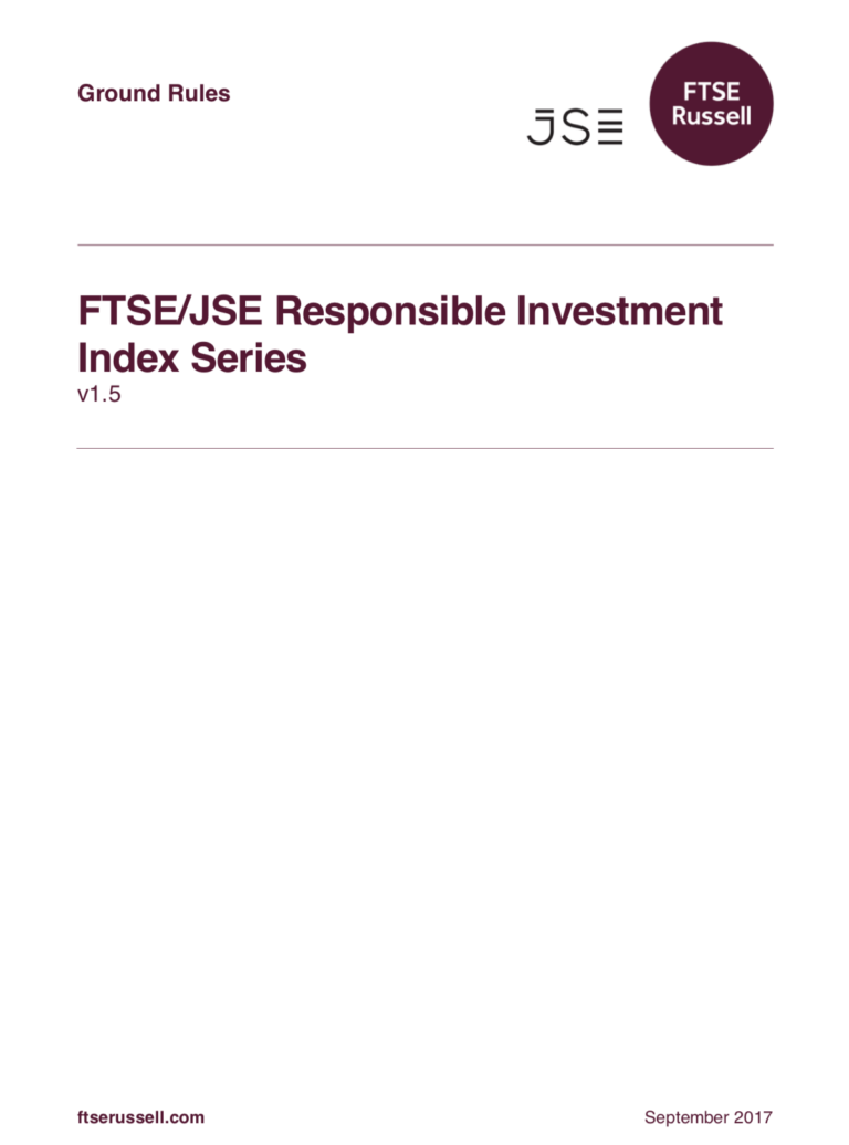 FTSE/JSE Responsible Investment Index Series | RESPECT