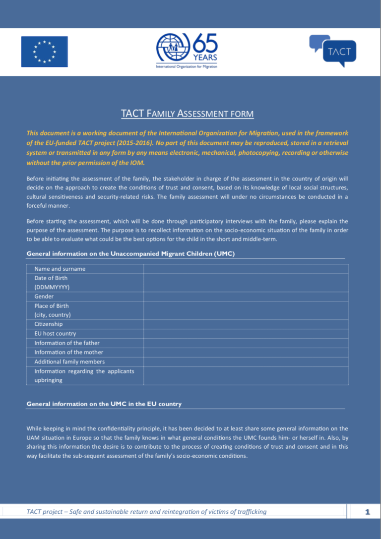 Tact Family Assessment Form Respect A child and family assessment is carried out by a social worker from the royal borough of greenwich's children's services. tact family assessment form respect