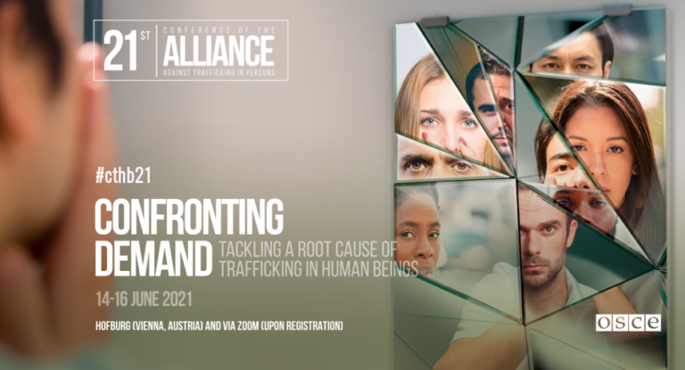 21st Conference of the Alliance against Trafficking in Persons: 'Confronting Demand: Tackling a root cause of trafficking in human beings' @ Online